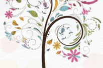 Free vector Vector floral  Abstract Swirl Floral Tree Vector Graphic