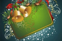 Free vector Vector background  beautiful christmas border background 04 vector