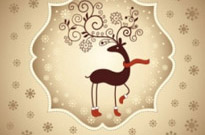 Free vector Vector Christmas  beautiful christmas greeting card 02 vector