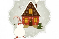 Free vector Vector Christmas  beautiful christmas greeting card 04 vector