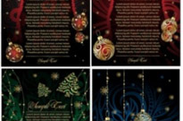 Free vector Vector Christmas  beautiful christmas posters vector
