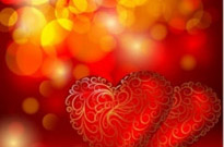 Free vector Vector background  beautiful red heart background vector