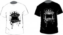 Free vector Vector misc  Black and White T-shirt Vector