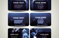 Free vector Vector misc  blue technology business card template 01 vector