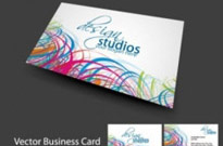 Free vector Vector misc  brilliant dynamic business card template 04 vector