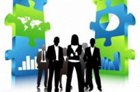 Free vector Vector people  Business People Team with 3D Puzzle Pieces