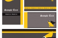 Free vector Vector background  cartoon business template background 03 vector