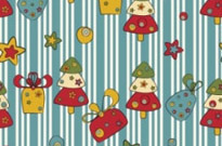 Free vector Vector background  cartoon christmas design background 02 vector