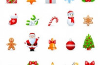 Free vector Vector icon  cartoon christmas icon 01 vector