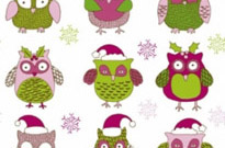 Free vector Vector pattern  cartoon christmas owl pattern 01 vector