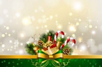 Free vector Vector background  christmas decoration background 01 vector