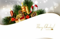 Free vector Vector background  christmas decoration background 02 vector