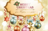 Free vector Vector background  christmas elements background 04 vector