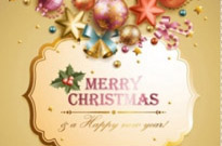 Free vector Vector background  christmas elements background 05 vector