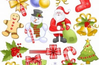 Free vector Vector Christmas  Christmas Elements Set Vector