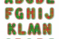 Free vector Vector Christmas  christmas english fonts 01 vector