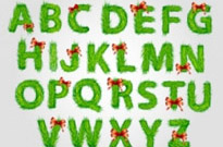 Free vector Vector Christmas  christmas english fonts 03 vector