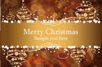 Free vector Vector background  christmas gorgeous brown background 04 vector