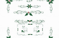 Free vector Vector Christmas  Christmas Holly ornament