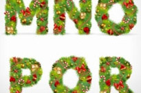 Free vector Vector Christmas  christmas ornaments composed of letters 03 vector