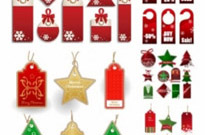 Free vector Vector Christmas  christmas sales discount tag vector