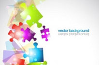 Free vector Vector background  colorful vector background 3 puzzle