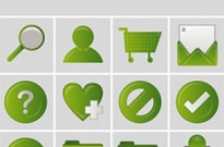Free vector Vector icon  commonly used in web design green style icon vector