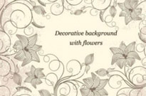 Free vector Vector flower  Decorative Background with Flowers Vector Art