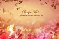 Free vector Vector floral  Dream Floral Background