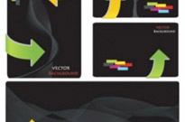 Free vector Vector misc  dynamic lines of the arrows business card vector