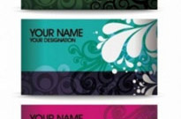 Free vector Vector floral  Elegant Floral Business Card Vector