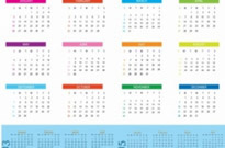 Free vector Vector misc  English Calendar 2014