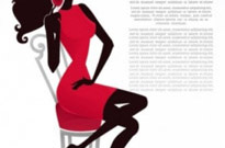 Free vector Vector Silhouettes  fashion beauty silhouette 01 vector