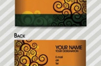 Free vector Vector pattern  fashion pattern business card template 03 vector
