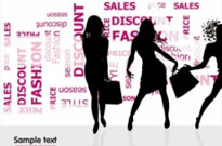 Free vector Vector Silhouettes  fashion shopping beauty silhouette 01 vector