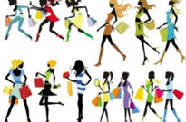 Free vector Vector people  fashion shopping girl vector