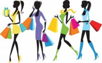 Free vector Vector people  Fashion Shopping Girls Illustration