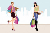 Free vector Vector people  Fashion Shopping Girls Vector Art