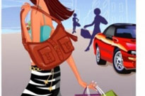 Free vector Vector people  fashion women shopping 6