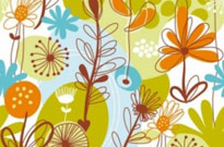 Free vector Vector flower  Floral Seamless Pattern
