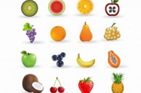 Free vector Vector icon  Fruit icon set