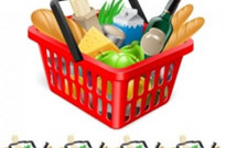 Free vector Vector misc  fruits and vegetables and shopping basket 03 vector