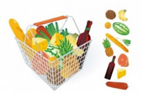 Free vector Vector misc  fruits and vegetables and shopping basket 04 vector