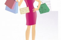 Free vector Vector people  Girl with bags