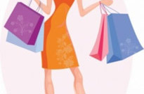 Free vector Vector people  Girl with shopping bags
