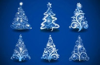 Free vector Vector Christmas  gorgeous christmas tree 01 vector