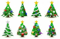 Free vector Vector Christmas  gorgeous christmas tree vector