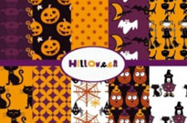 Free vector Vector background  halloween cartoon background 02 vector