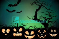 Free vector Vector background  Halloween night background