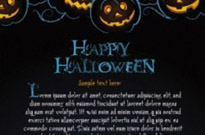 Free vector Vector background  halloween posters beautiful background 02 vector